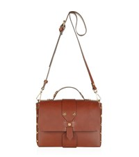 Sandro Abby Studded Satchel Female Brown