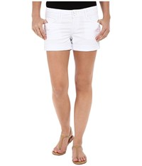 Hudson Croxley Mid Thigh Shorts In White White Women's Shorts