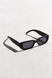 Urban Outfitters Slim Wide Plastic Sunglasses Black