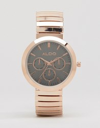 Aldo Rose Gold Chrono Watch Rose Gold