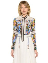 Peter Pilotto Leaf Printed Silk Crepe De Chine Blouse