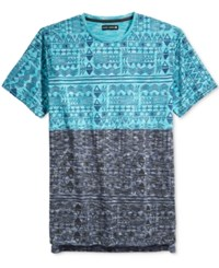 Ocean Current Men's Moro Colorblocked Graphic Print T Shirt Blue Multi