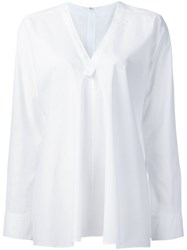 Y's V Neck Shirt White