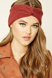 Forever 21 Knotted Headwrap Rust