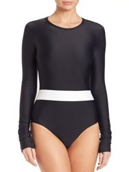 Cover One Piece Long Sleeve Upf 50 Swimsuit Oxford
