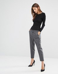 Sisley Trouser With Tie Waist Grey