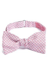 Men's Vineyard Vines Whale Print Silk Bow Tie Pink