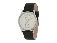 Skagen Sonder Silver Black Watches Gray