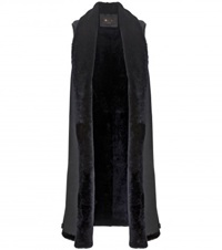 Loro Piana Kenny Shearling And Suede Vest Blue
