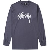 Stussy Long Sleeve Stock Tee Blue