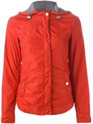 Armani Jeans Hooded Sport Jacket Red
