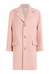 Red Valentino Virgin Wool Coat Rose