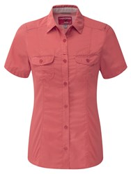 Craghoppers Nosilife Darla Short Sleeved Shirt Coral