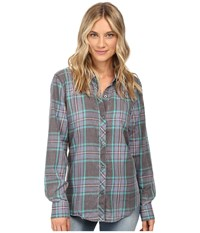 O'neill Birdie Button Down Shirt Dragonfly Women's Long Sleeve Button Up Blue