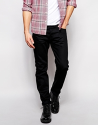 Edwin Jeans Ed 80 Slim Tapered Fit White Listed Black Selvedge
