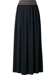 Vanessa Bruno Embroidered Waist Skirt Black