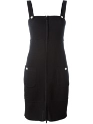 Chanel Vintage Fitted Knit Dress Black