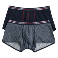 Sloggi Mens Hipster Trunks Pack Of 2 Black Grey