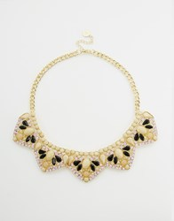 Johnny Loves Rosie Rhinestone Collar Necklace Pastelmulti