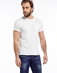 Edwin Marvin T Shirt With Pocket White