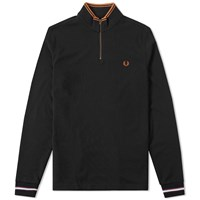 Fred Perry Bradley Wiggins Long Sleeve Cycling Polo Black