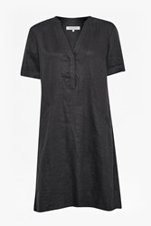 Great Plains Shropshire Linen Smock Dress Grey