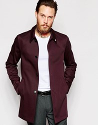 Noose And Monkey Trench With Stretch Burgundy