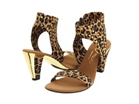 Onex Showgirl Brown Leopard Women's Dress Sandals Animal Print