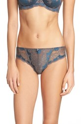 Panache Plus Size Women's 'Clara' Briefs Slate Teal