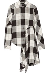Maison Martin Margiela Asymmetric Checked Twill Shirt Black