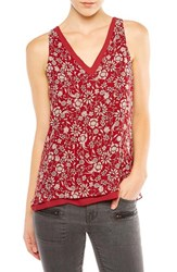 Sanctuary Women's Rose Print Double Layer Tank