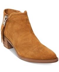 Steve Madden Steven By Doris Pointed Toe Ankle Booties Women's Shoes Camel Suede