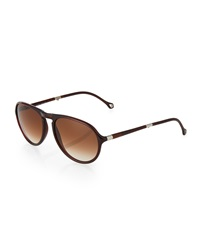 Ermenegildo Zegna Foldable Aviator Sunglasses Brown Dark Burgundy