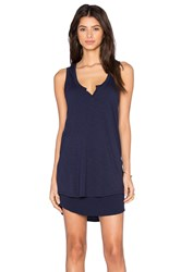 Feel The Piece Quest V Neck Dress Navy