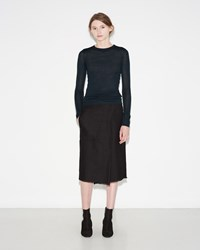 Isabel Marant Silo Cotton Costard Skirt Black