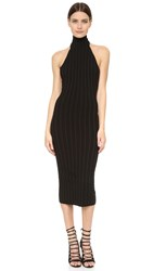 Cushnie Et Ochs Mock Neck Backless Dress Black