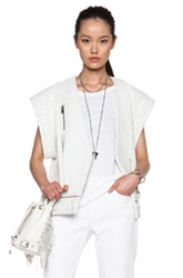 Iro Jacy Leather Vest In White
