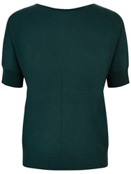 Jaeger Cashmere Slouchy Top Green