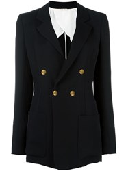 Celine Vintage Double Breasted Blazer Black