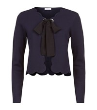 Claudie Pierlot Moma Scalloped Cardigan Female Navy