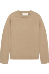 Goat Vega Honeycomb Knit Cashmere Sweater Sand