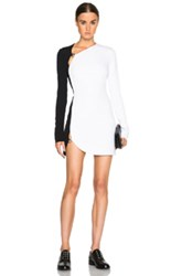 Thierry Mugler Mugler Bi Color Fitted Cady Mini Dress In White