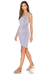 Velvet By Graham And Spencer Shony Modal Knit Bodycon Dress Purple