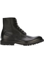 Eleventy Lace Up Boots Black