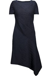 Raoul Savannah Suede Trimmed Quilted Cotton Blend Dress Midnight Blue