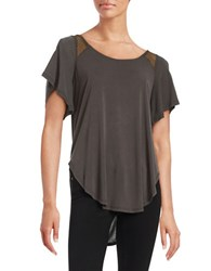 Jessica Simpson Carly Cold Shoulder Top Black
