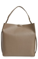 Allsaints 'Paradise North South' Calfskin Leather Tote Grey Mink Grey