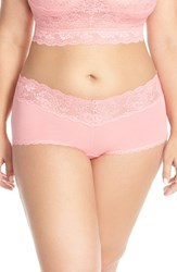Plus Size Women's Cosabella 'Never Say Never' Low Rise Boyshorts Geranium Pink