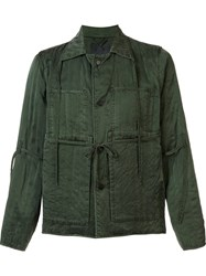 Craig Green Drawstring Detail Shirt Jacket Green