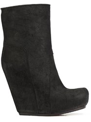 Rick Owens Wedge Ankle Boots Black